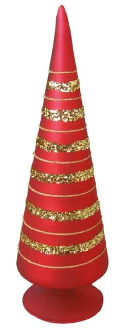 Dekorační špice červená, výška 26 cm