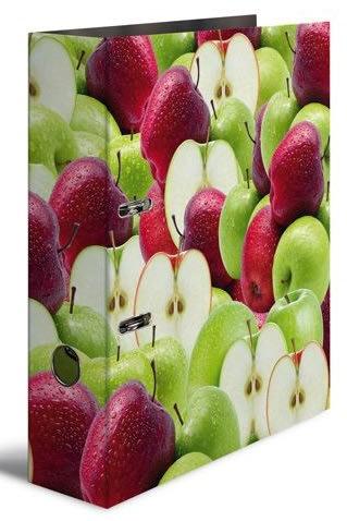Designový pákový pořadač A4 7cm karton motiv  -jablko