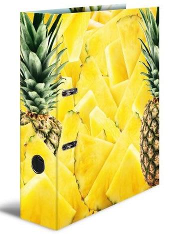 Designový pákový pořadač A4 7cm karton motiv -Ananas