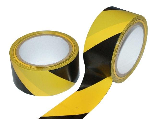 LP výstražná žluto-černá  48mm x 22m
