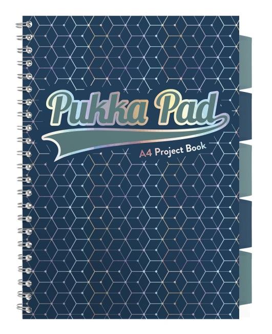 Pukka Pad projektový  blok Glee A4, papír 80g,100 listů, tmavě modrý