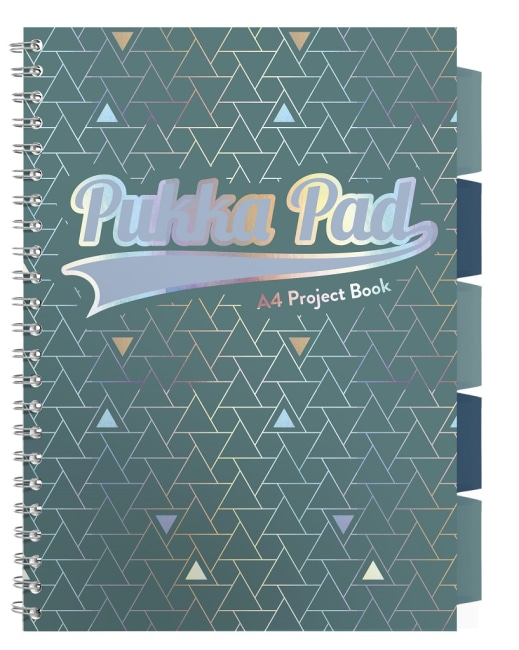 Pukka Pad projektový  blok Glee A4, papír 80g,100 listů, zelený