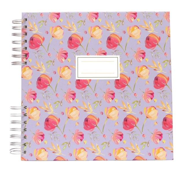 Fotoalbum/památník, lila, 20 listů karton 250g, 255x257x12mm