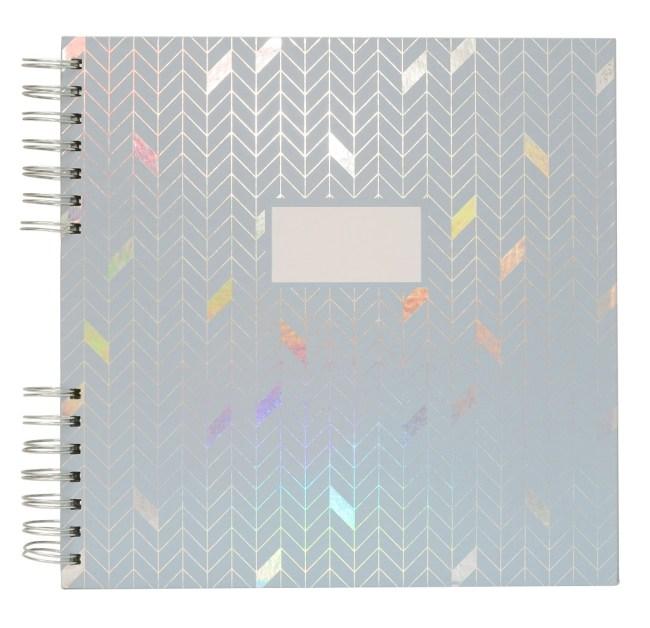Fotoalbum/památník, šedo modrý, 20 listů karton 250g, 255x257x12mm