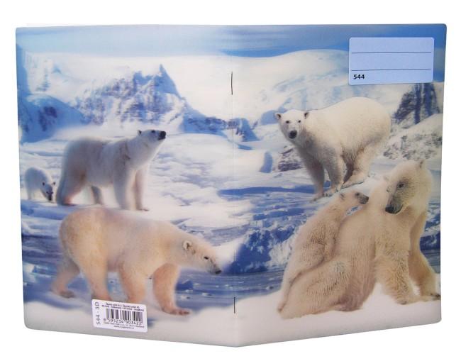 sešit 524 s 3D motivem,  A5, 20 listů,linkovaný, motiv lední medvěd