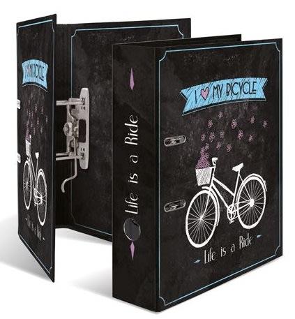 Designový pákový pořadač A4 7cm karton motiv -Chic bicycle