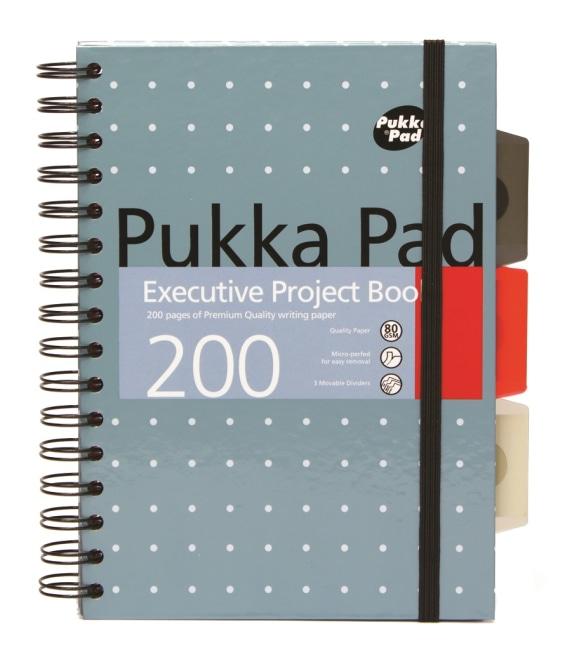 Pukka Pad projektový  blok Metallic Executive A5, papír 80g,100 listů, modrý