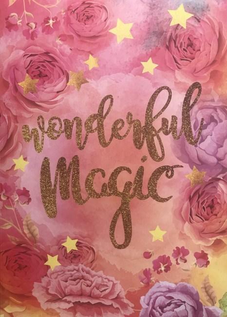 záznamová kniha A5, tvrdá obálka, 80 listů,80 gr, Kolekce Dream, motiv - wonderful Magic