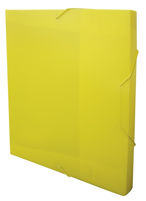Krabice na spisy REGORD tříklopá s gumou, žlutá, formát A4