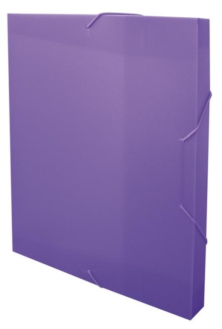Krabice na spisy REGORD tříklopá s gumou, fialová, formát A4