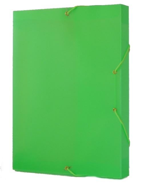 Krabice na spisy REGORD tříklopá s gumou, zelená, formát A4