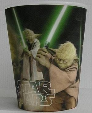 Plastové kelímky  3D. Star Wars  ,, Yoda´´, vhodné do myčky