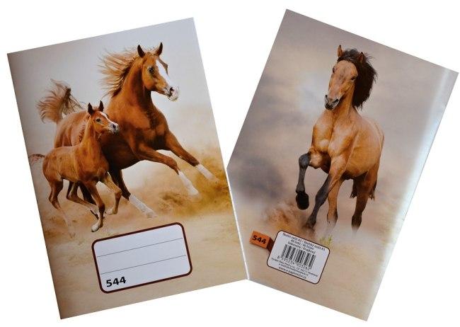sešit 544, A5, 40 listů, linkovaný 8 mm, motiv koně