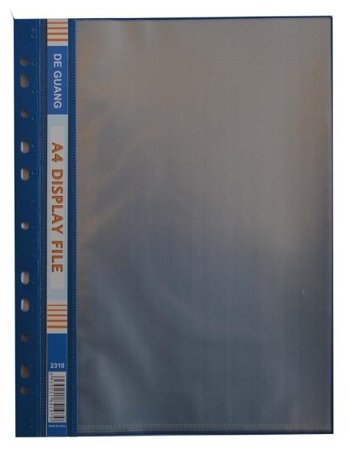 Obal závěsný A4 s 10 euro obaly- modrý