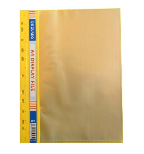 Obal závěsný A4 s 10 euro obaly- žlutý