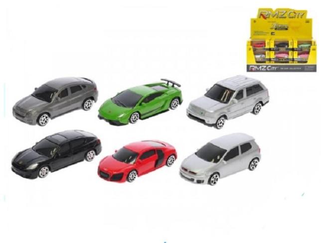 Auto mini 1:64 kov volný chod 6druhů 2barvy v krabičce