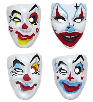 Maska klaun, plast