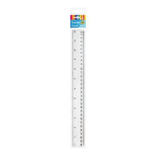 Pravítko 30 cm transparentní
