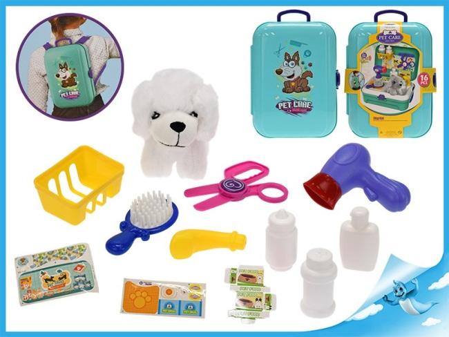 Zvířecí ošetřovna(hračka), kufřík/batoh