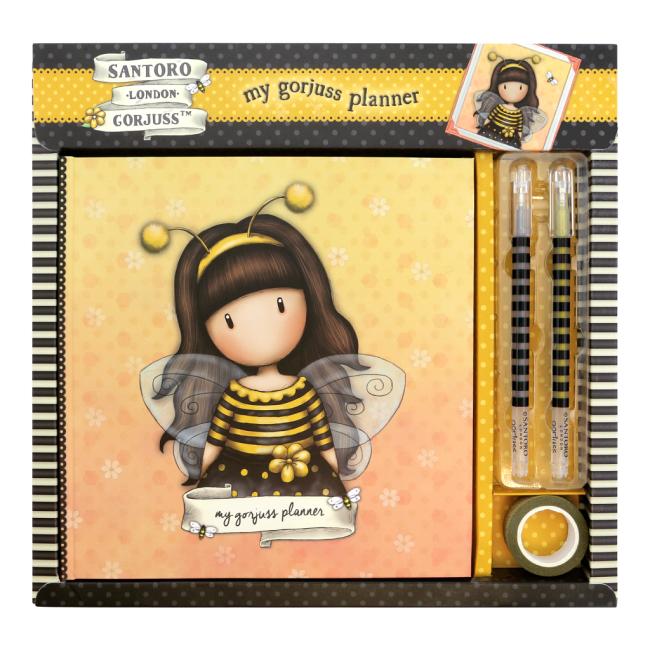 Plánovač / deník Santoro London  - Bee-Loved, Rozměry: 27 x 28 x 2.5cm