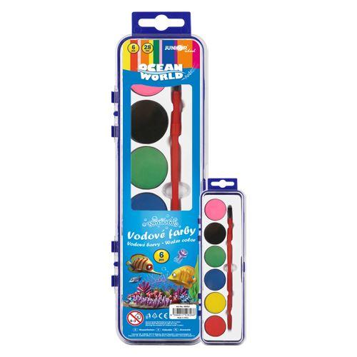 Barvy vodové Ocean World - 6 barev/28mm