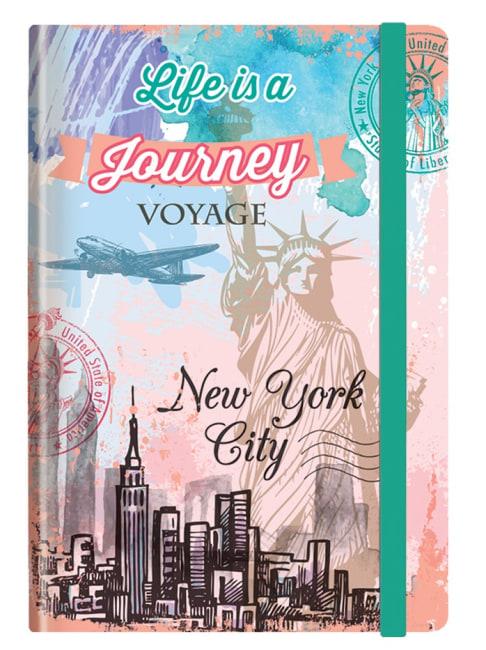 notes s gumou 192 stran, 135x195mm,  Kolekce Shiny, motiv New York
