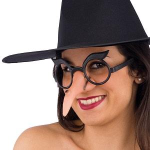 Brýle s čarodějnickým nosem a obočím