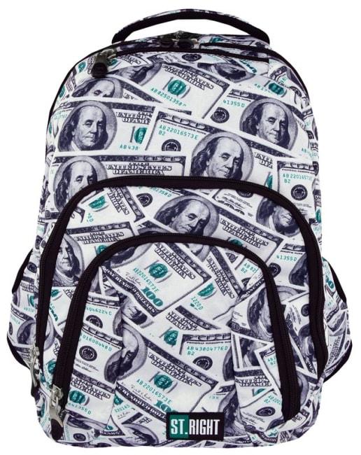 studentský batoh St.RIGHT - DOLLARS, BP25, 4 komorový