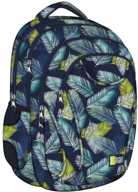 studentský batoh St.RIGHT - Tropical Leaves, 4 komorový, BP02
