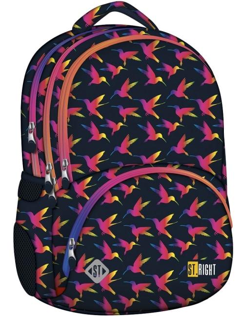 studentský batoh St.RIGHT - Rainbow Birds, 4 komorový, BP07
