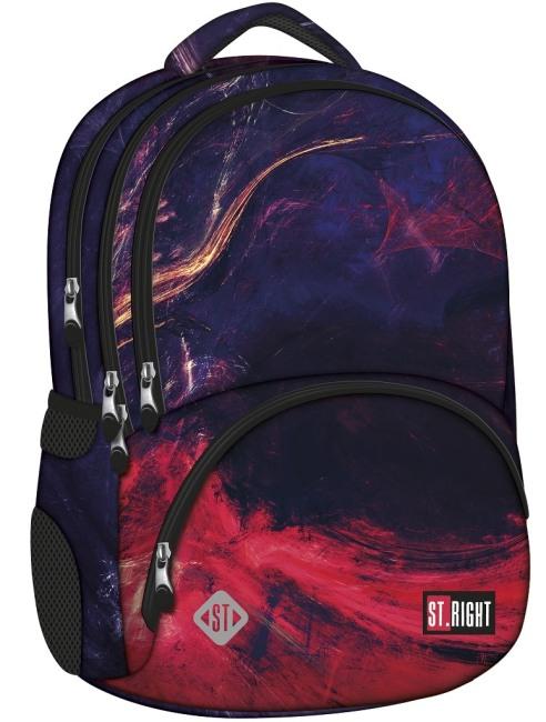 studentský batoh St.RIGHT - Flames,  4 komorový, BP07
