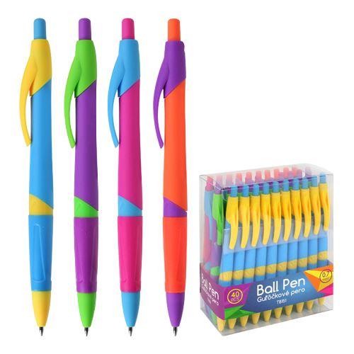 Pero kuličkové TB151-0,7mm , průměr 1,2cm, oranžovo-fialové
