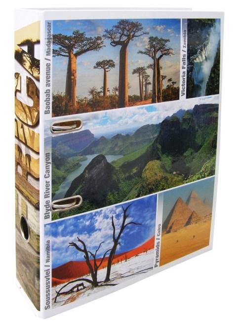 Designový pákový pořadač A4 7cm karton motiv Afrika