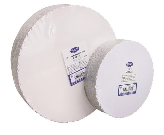 lepenkové podložky pod dort 28 triplex/H, průměr 28 cm, v balení 100ks