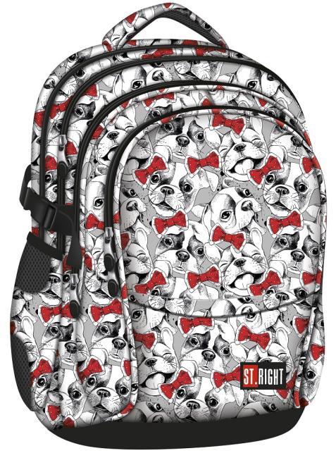 studentský batoh St.RIGHT - Lovely Pets, 4 komorový, BP01