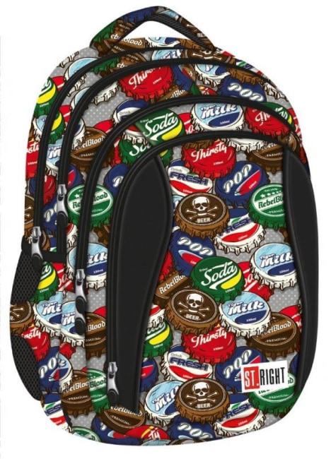 studentský batoh St.RIGHT - Bottle Caps