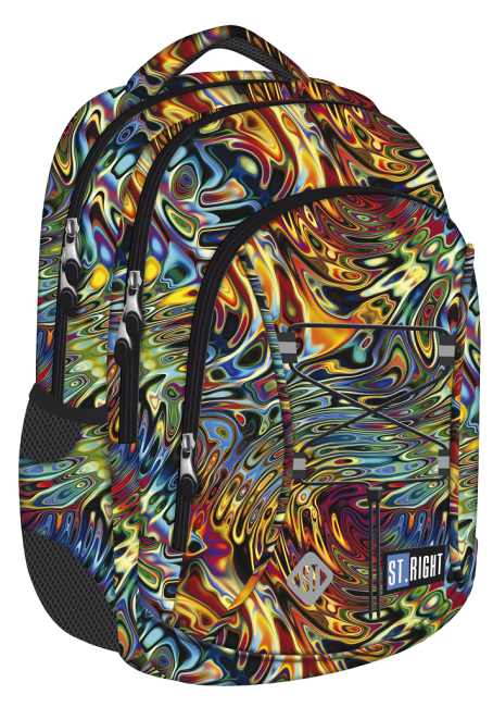 studentský batoh St.RIGHT - Abstraction,16 3 komorový