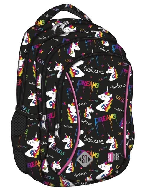 studentský batoh St.RIGHT - Unicorns, 3 komorový, BP26