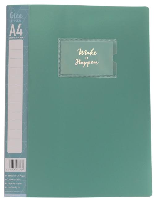 Katalogová kniha z PP,zelená, A4, 10 listů