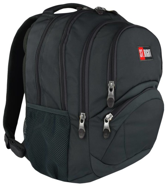 studentský batoh St.RIGHT - Gray , 4-komorový, BP05