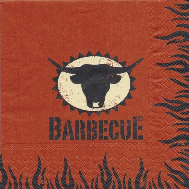 Ubrousky Barbecue,33 x 33cm,3-vrstvé, v balení 20ks