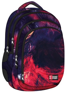 studentský batoh St.RIGHT - Flames, 4 komorový, BP04