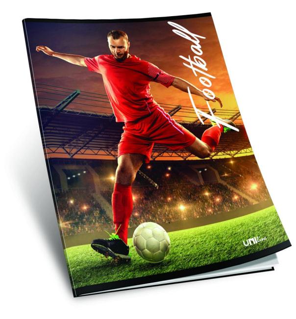 sešit 440, A4, 42 listů, bez linek, ,edice SPORT, motiv Football
