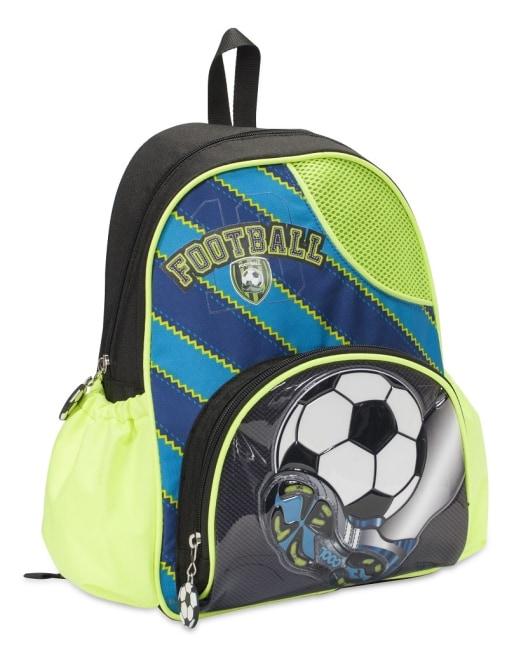Dětský batůžek FOR ME -černo,zeleno,modrý - FOOTBALL