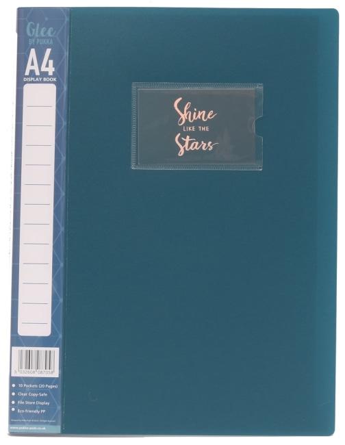 Katalogová kniha z PP,modrá, A4, 10 listů