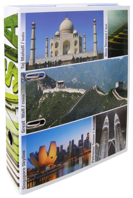 Designový pákový pořadač A4 7cm karton motiv Asie