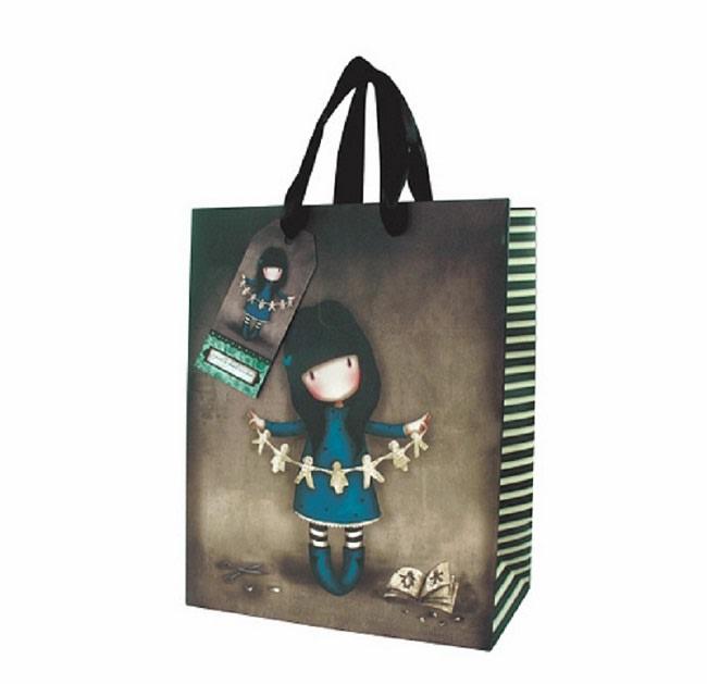 Dárková taška velká Santoro London – Family in A Book, Rozměry: 26,4 x 32,7 x 13,6 cm