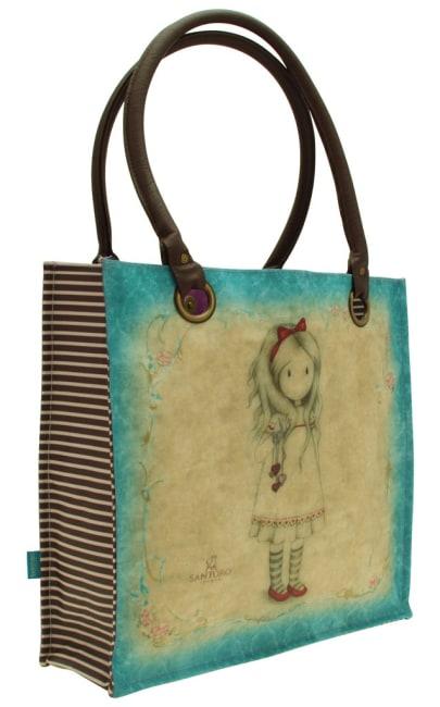 Nákupní taška velká Santoro London– Pulling On Your Heart Strings, Rozměry:35 x 35 x 12 cm