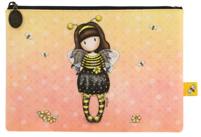 Kapsička na zip Santoro London – Bee-Loved (Just Bee-Cause),16 x 2 x 23 cm