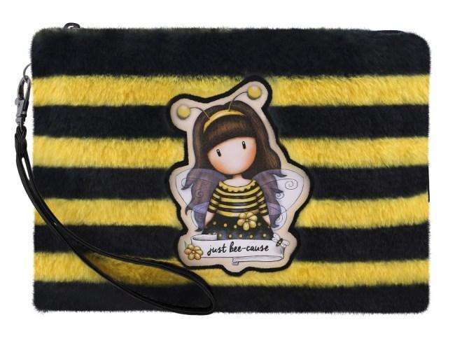 Kosmetické poudro Santoro London na zip, chlupaté - Bee-Loved